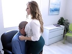 TeamSkeet - Busty and Hairy Office Babe Pummeled By Colleague