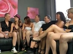 Amazing group fuck action during swinger's party