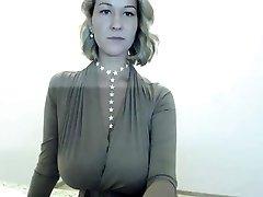 Sexy Blonde Striptease on my web cam
