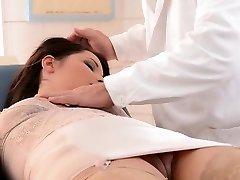 Insane doctor punishes lovely babe Lana