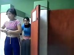 Two Girls Snooped Going Toilet