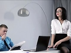 Petite Secretary porked at the office