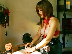 slave teased and tortured by hot mistress