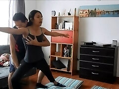 Yoga professor gets fucked by hot student