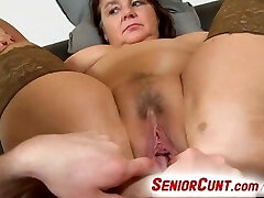 Fat lady Eva aged vagina fingered and played pov zoom