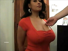 Big funbags Danica Collins as her tits groped.