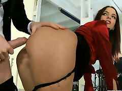 Finest secretary ever Lyen Parker deepthroats her boss and later gets ass pounded doggy style