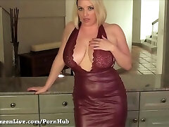 All Natural Busty Platinum-blonde Maggie Green gets off in Lingerie!