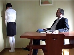 rock-hard spanking of a schoolgirl