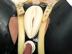 Hottest homemade BDSM, Latex sex flick
