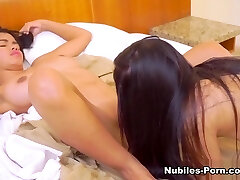 Alexandra Cerrano & Lea De La Torre in First-ever Time Lesbian Nubiles - Nubiles-Porn