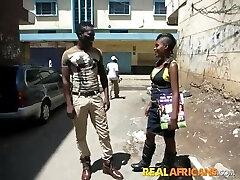African Inexperienced Slut Street Pickup and Toilet Fuck