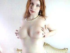 busty real redhead interviewed and strip