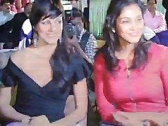 Yana Gupta without panties upskirt at charity event