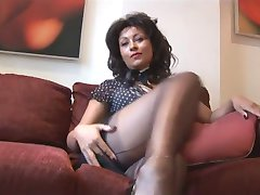 Danica Collins on high heels showing her pussy and her tits