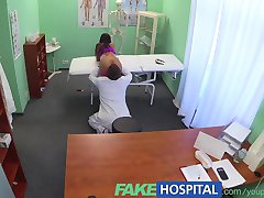 FakeHospital Slim gorgeous patient needs doctors cream for her beautifully tanned skin