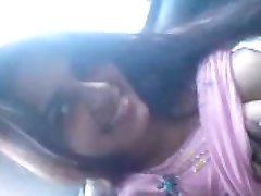 Hot Indian College Girl Blows BF Inside The Car