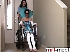 Horny Not Son Fucks Not Mother in Wheelc - She is on MILF-ME