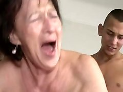Granny Loves Youthfull Boy's Plums and Ass