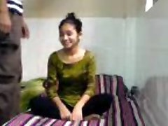 Innocent Indian Coed Sucks Ravages in BFs Dormitory Room