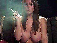 Best boobs ever smoking fetish