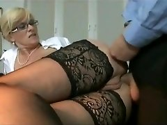 Marina Montana Secretary Butt-banged Hangers udders stocking