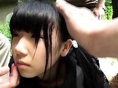 Weird japanese group play with squirting teenager