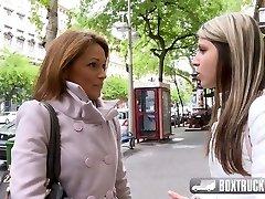 Sizzling Szilvia Lauren surprised by the lezzie model agent
