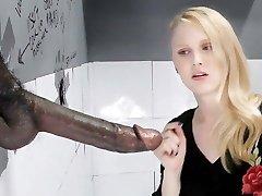 Lily Rader Sucks And Smashes Big Dark-hued Dick - Gloryhole