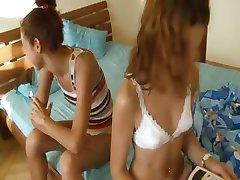 Russian schoolgirls Vika and Natasha