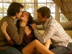 Jennifer Podemski - Blessing (Threesome erotic scene) MFM