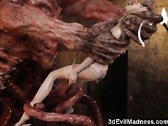 3D Terrifying Aliens Boink Poor Girls!