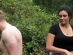 Damsels and a guy do yoga outdoor