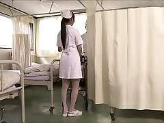 2 japanese nurses suck meatpipe and swap cum.
