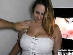 Immense Inborn Breast Blonde Glory Hole Blowjobs