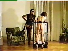Mistress tortures and brands new chick slave