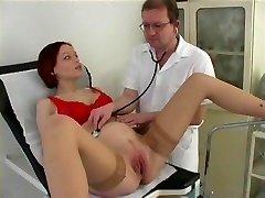Kinky redhead porks her doctor