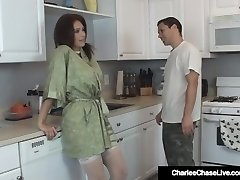Hot Nasty Housewife Charlee Chase Meets & Nails the Plumber!