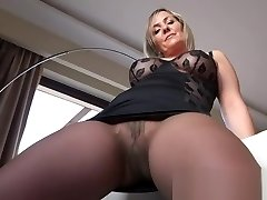 Hot mature showing stockings