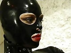 Steaming cat girl in leather suit does anything she wants to her horny marionette