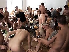 Thick Melons Blonde Cum Covered at Home Party