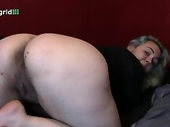 chubby showing her big backside and ugly for us