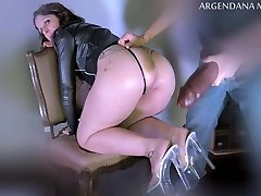 Extreme deep anal with oversized fuck stick
