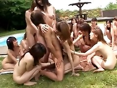 Japanese dolls' pool side soiree