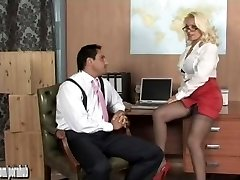 Sexy towheaded office hoe Lana Cox fucked deep and left dripping with cum