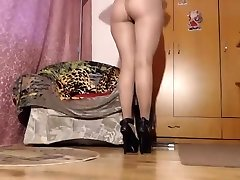 Mommy in Sweet Sheer Shiny Pantyhose