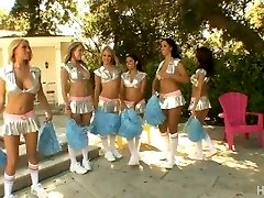 Multiracial Cheerleader Orgy 2