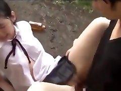 Petite Japanese Teens In Schoolgirl Uniform Abused &amp_ Drilled Hard