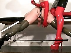 My slave femdom video - Milking my rubber mega-bitch