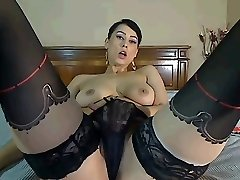 Chaturbate Cam Damsel Plays with Tits and Pussy